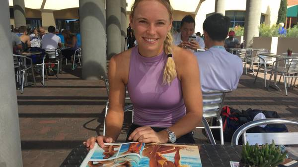 Caroline Wozniacki er stolt over sine billeder i Sports Illustrateds Swimsuit Edition. Foto: Troels Christensen