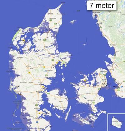 Dele Af Danmark Drukner Se Om Du Bor I Det Kommende Hav Ekstra