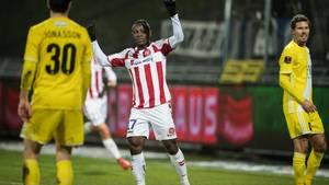 Bassagog jubler efter sin heldige scoring. Foto: René Schütze