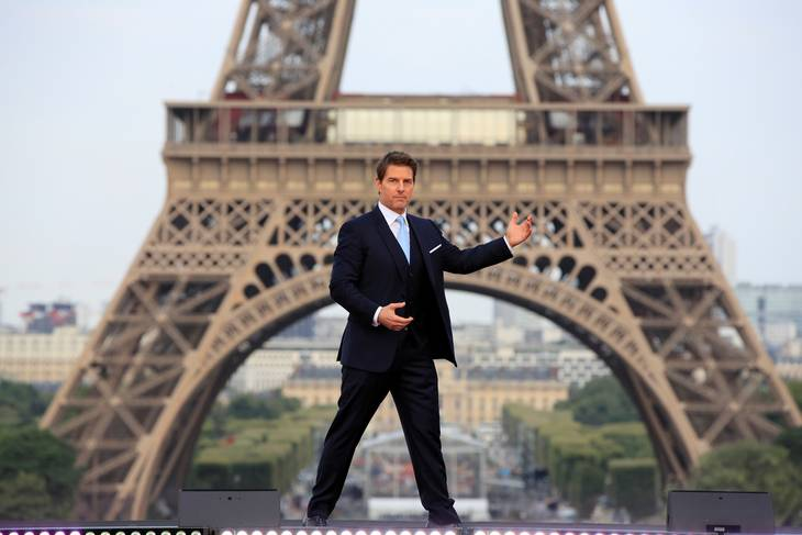 Tom Cruise klar til action i Paris. Ritzau Scanpix