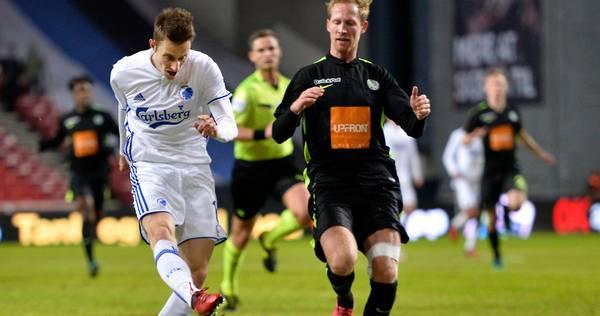 Jan Gregus i aktion for FCK. Foto: Lars Poulsen