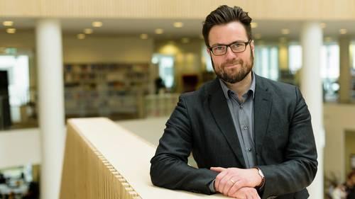 Peter Rahbæk Juel er siddet siden nytår som borgmester i Odense. Foto: University College Lillebælt