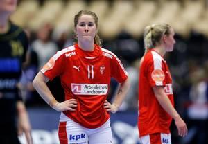 Mette Gravholt og Klavs Bruun Jørgensen er måske ikke ligefrem hinandens top te. Nu fortæller spilleren, hvorfor hun ikke vil tilbage på landsholdet. Foto: Jens Dresling.