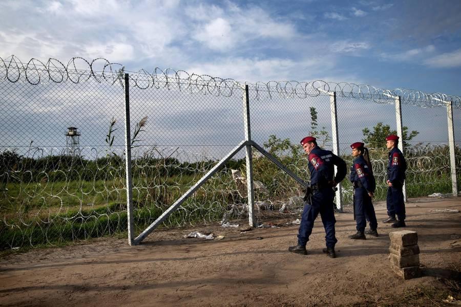 Her grænsen mellem Serbien og Ungarn.