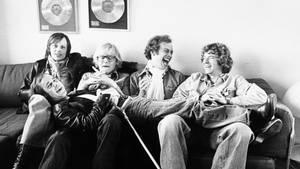 Bosse Hall Christensen (nummer to fra højre) i de glade dage sammen med resten af shubberne. Asger Sessingø/Polfoto
