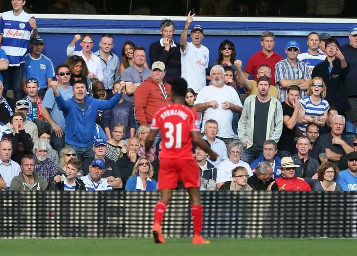 Raheem Sterling blev solgt fra QPR til Liverpool. Her har han netop scoret mod sin tidligere klub. Foto: David Klein/Ritzau Scanpix