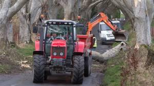 Stormen Doris hærger i Storbritannien. Foto: AP