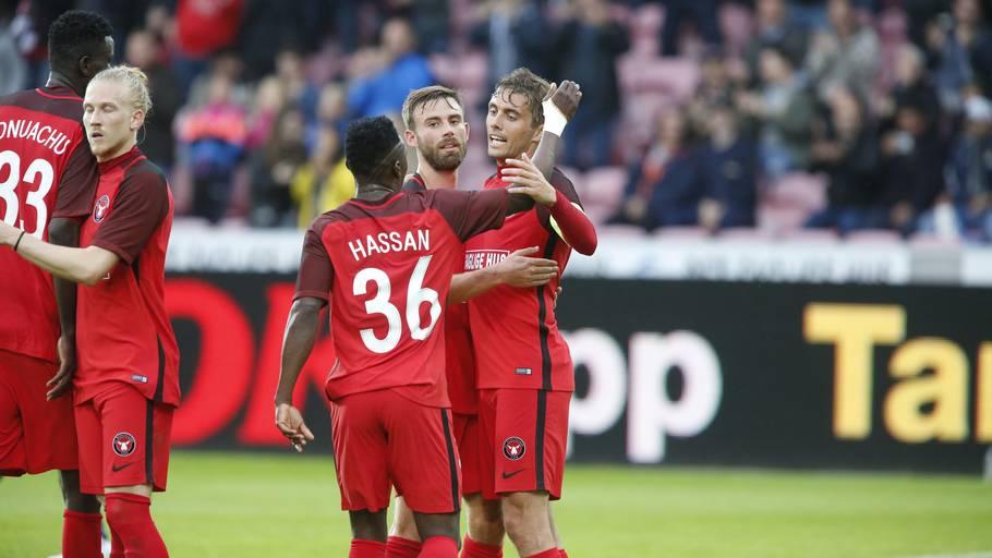 FC Midtjylland og Lyngby har allerede sørget for yderligere dansk  avancement på klublisten. Foto  4938f80a11869
