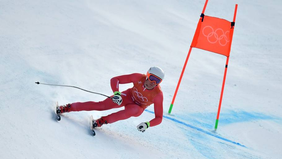 Christoffer Faarup under træningen i Pyeongchang. Foto: Fabrice Coffrini/AP