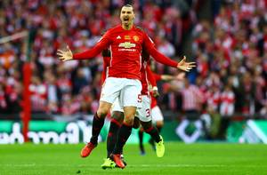 For 26.gang i denne sæson gjorde Zlatan Ibrahimovic det for Manchester United. Foto: All Over Press