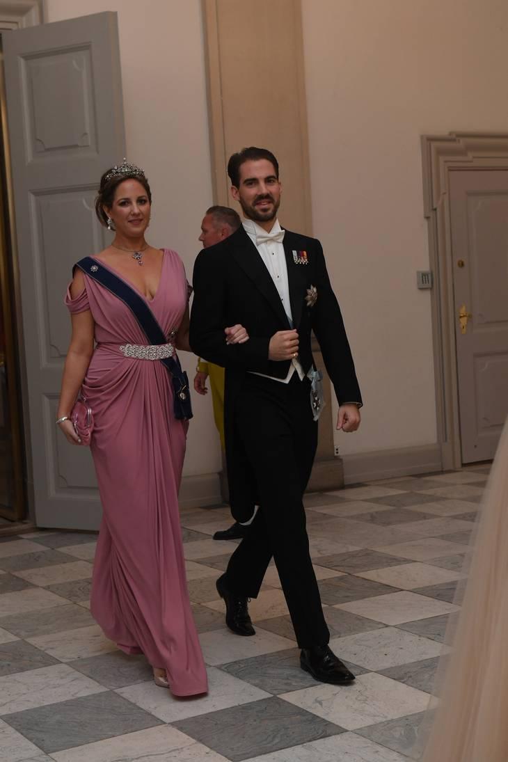 Prinsesse Theodora af Grækenland fulgtes med sin bror prins Philippos og var - selvfølgelig - også i lyserødt skrud. Foto: Jonas Olufson