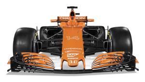Sådan ser den nye orange McLaren F1-bil ud. Den har fået navnet MCL32. Foto: McLaren