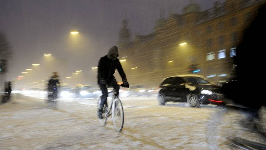 Sneen rammer igen Danamrk natten til fredag og fredag morgen. (Arkivfoto: Kristian Linnemann)
