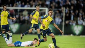 Jan Kliment i aktion for Brøndby. Foto: Tim Jensen.