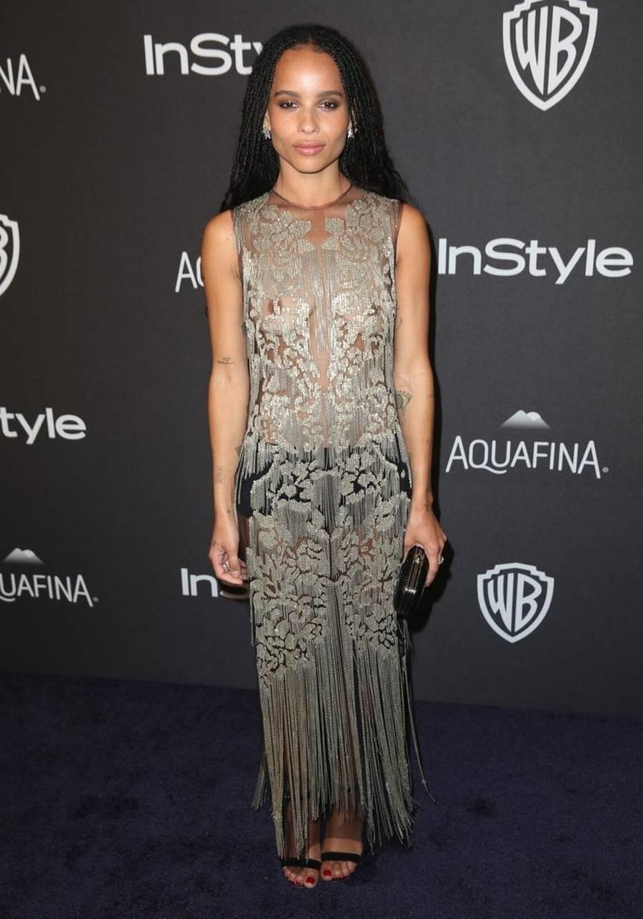 Zoe Kravitz viste mest hud til Golden Globe-prisuddelingen. (Foto: AP)