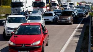 Der bliver større og større trængsel på de danske motorveje takket være en stigning i antallet af kørte kilometer. Foto: /ritzau/Finn Frandsen