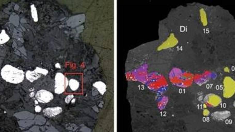 Fundet indikerer måske, at det sjældne mineral ikke kun dannes i det ydre rum. (Foto: Mineralogical Society of America)
