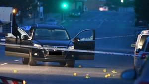 Den pågældende konflikt kulminerede en sen aften i juni, hvor det kom til voldsomt skyderi på Frederiksberg. Her mistede en 23-årig mand livet. Foto: Kenneth Meyer