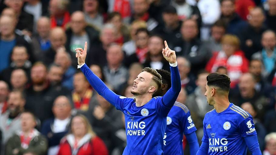 James Maddison (billedet, tv) og Ben Chilwell er på ønskelisten i Manchester United. Foto: Paul Ellis/Ritzau Scanpix