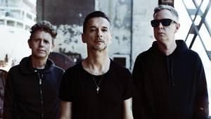 Depeche Mode anno 2017 - fra venstre: Martin Gore, Dave Gahan og Andrew Fletcher. Foto: Anton Corbijn