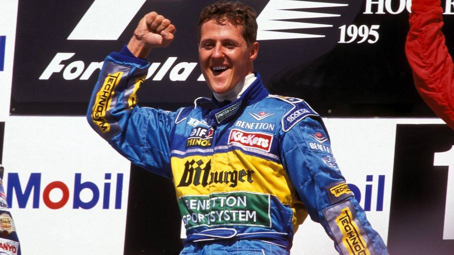 Michael Schumacher i Benetton-udstyret (Foto: All Over Press)