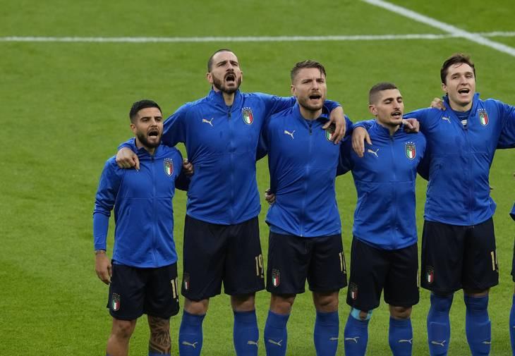 - Insigne, Immobile og Verratti har alle spillet en vigtig rolle for de italienske Europamestre. Foto: Matt Dunham/Ritzau Scanpix