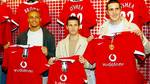 Miller blev præsenteret sammen med Wes Brown og John O'Shea i United. Foto: All Over Press