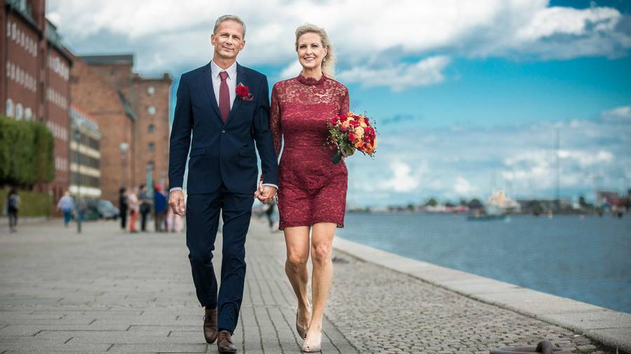 Birgitte kunne slet ikke få nok af Martin, da hun så ham for første gang i 'Gift ved første blik'. Engagementet faldt dog, da det kom frem, at han er religiøs. Foto: NIKOLAI LINARES/DR