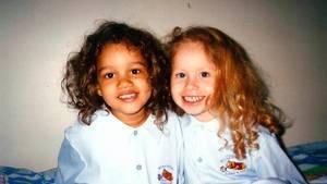 Her ses de to tvillinger, da de var små børn. Foto: All Over Press.
