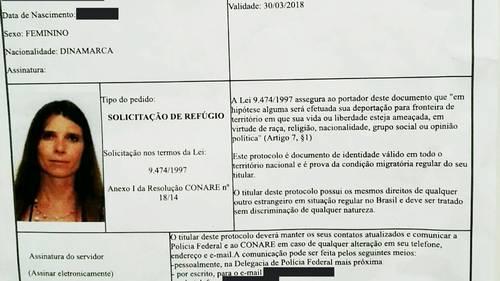 Det brasilianske justitsministerium har udstedt midlertidige identitetspapirer til den internationalt efterlyste dansker Angelina Mathiesen.