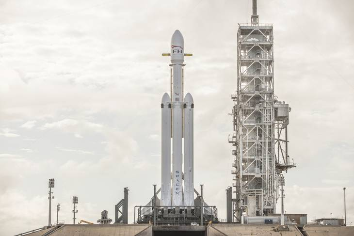 Falcon Heavy raketten ved Cape Canaveral, Florida, USA FOTO: SpaceX via AP