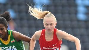 Anna Emilie Møller sørgede søndag for dansk medalje ved EM i cross. Foto: AP.