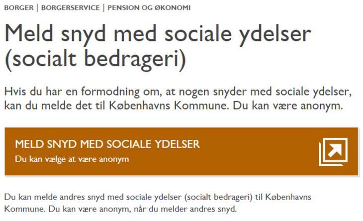 anonym anmeldelse til sociale myndigheder