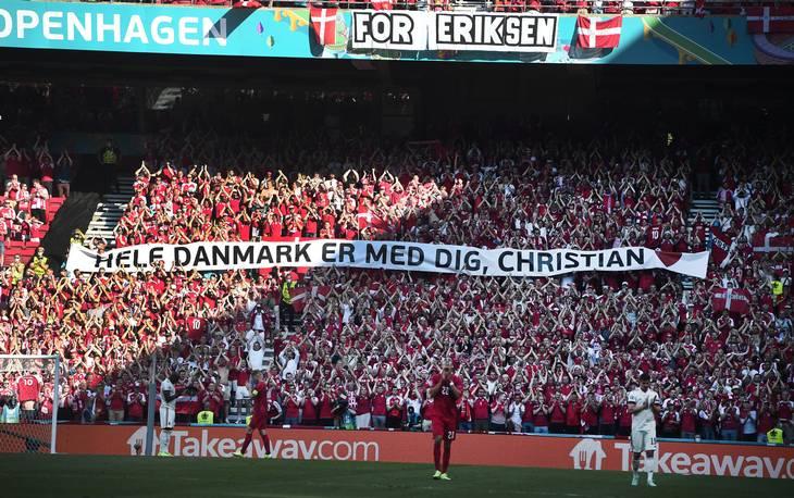 De danske fans viste et uhørt højt niveau af opbakning. Foto: Lars Poulsen