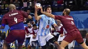 Argentina har scoret to mål på en halvleg i kampen mod Qatar ved VM, og det er historisk lavt. Foto: All Over