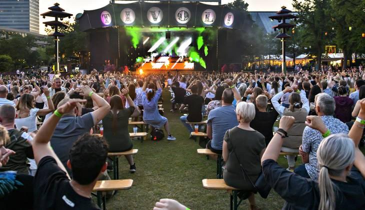 Tivoli har erstattet den traditionelle Fredagsrock med Havefest-konceptet på grund af coronarestriktioner. Foto: Torben Christensen/Ritzau Scanpix