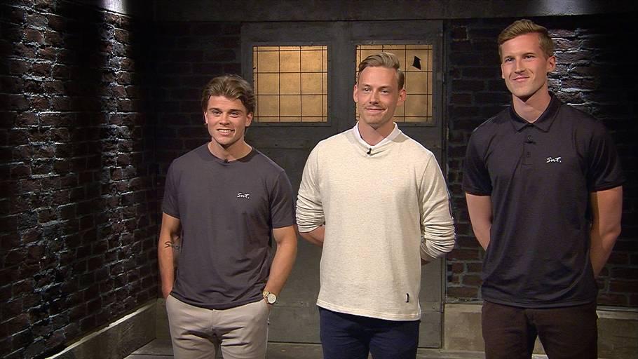 44745b6bd42 De tre iværksættere fra venstre: Christoffer Bak, Kasper Ulrich og  Christian Aachmann. Foto