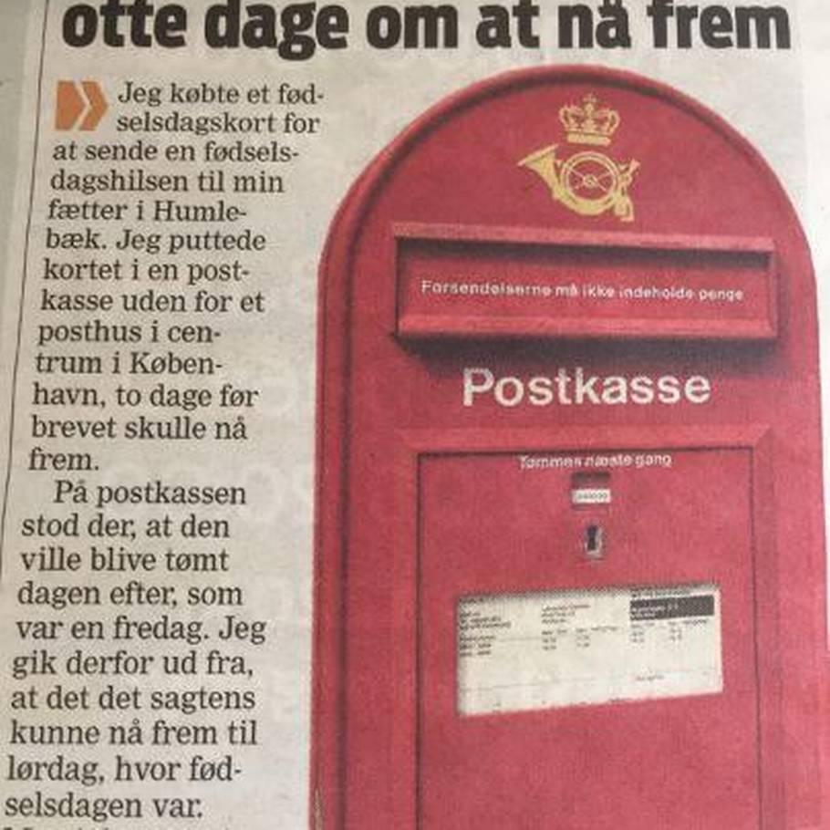 post danmark omdeling tider