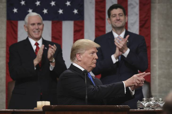 Trump holder sin første State of the Union-tale. Foto: AP