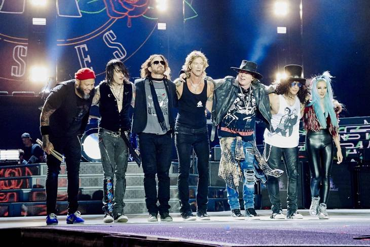 Guns N' Roses anno 2016 med blandt andre Slash, Axl Rose og Duff McKagan. Foto: All Over