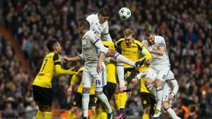 Borussia Dortmund kæmpede sig til uafgjort ude mod Real Madrid, som måtte se tyskeren snuppe 1. pladsen i gruppen. Foto: All Over Press
