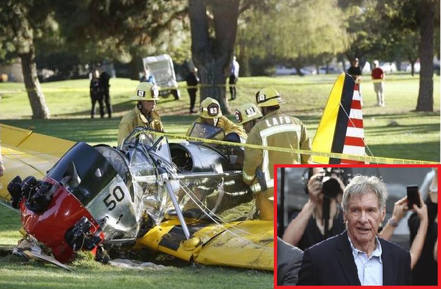 Sådan så det ud, da Ford i 2015 styrtede ned i Californien. Foto: AP