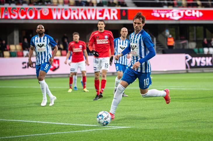 Esbjerg og Jakob Ankersen formåede ikke at rykke op sidste sæson. Foto: Morten Kjær/Ritzau Scanpix