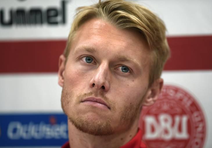 Simon Kjær ville ikke have en fremtid i landsholdsregi, hvis Jim Stjerne Hansen stadig var topboss. Det har ikke været muligt at få en kommentar fra Simon Kjær, fordi han forbereder sig til onsdagens topkamp mod Real Madrid. Foto: Lars Poulsen