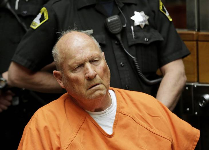 Joseph DeAngelo var, før han blev anholdt, kendt under navnene 'Golden State Killer',  'the East Area Rapist', 'the Visalia Ransacker' og 'the Original Nightstalker'. Foto: Ritzau Scanpix