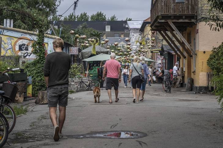 Stemningen var trykket på Christiania lørdag formiddag. Foto: Ekstra Bladet