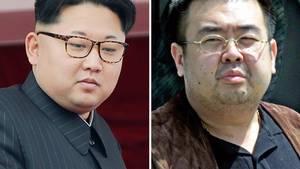 Storebror Kim Jong-nam ved siden af sin lillebror, 33-årige Kim Jong-un. (AP Photos/Wong Maye-E, Shizuo Kambayashi, File)