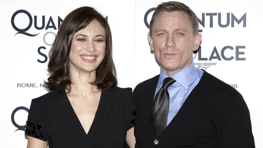 Olga Kurylenko og Daniel Craig ved premieren på 'Quantum of Solace'. Foto: All Over Press