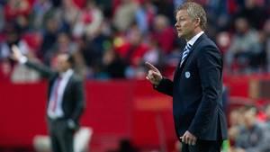 Ole Gunnar Solskjær er angiveligt et varmt navn som ny norsk landstræner. Foto: AP/Miguel Morenatti