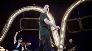- Jeg kan blive liderlig af at optræde for 3800 mennesker i New York, men jeg får stiv pik af at spille for 30.000 i Odense, sagde Lukas Graham. Foto: Tariq Mikkel Khan